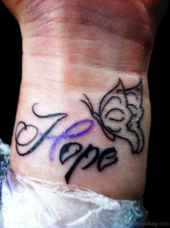 Hope Tattoo On Wrist
