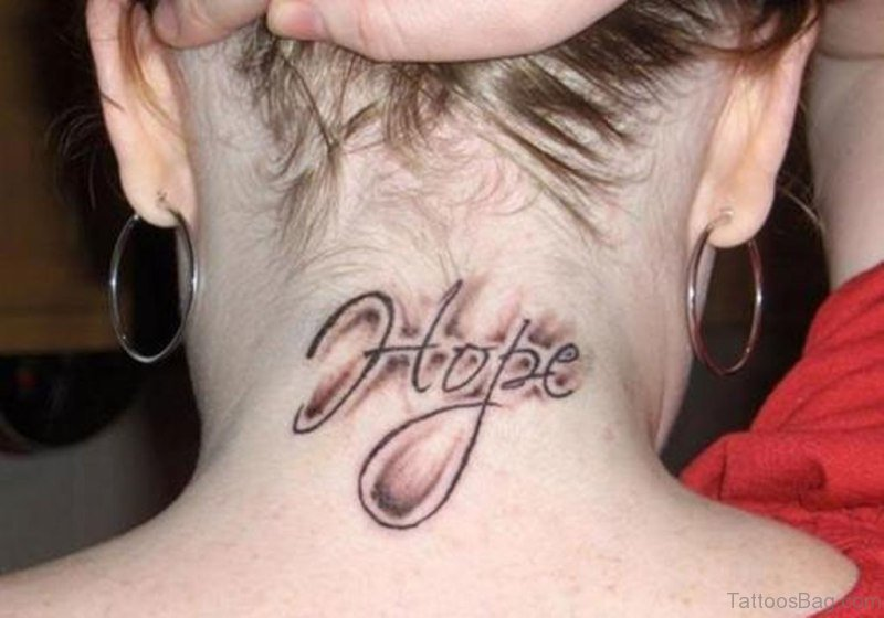 85 Magical Word Tattoos On Neck
