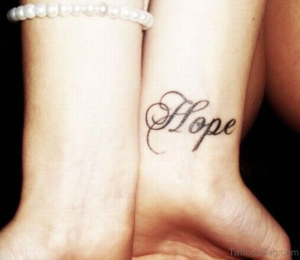 Hope Wording Tattoo
