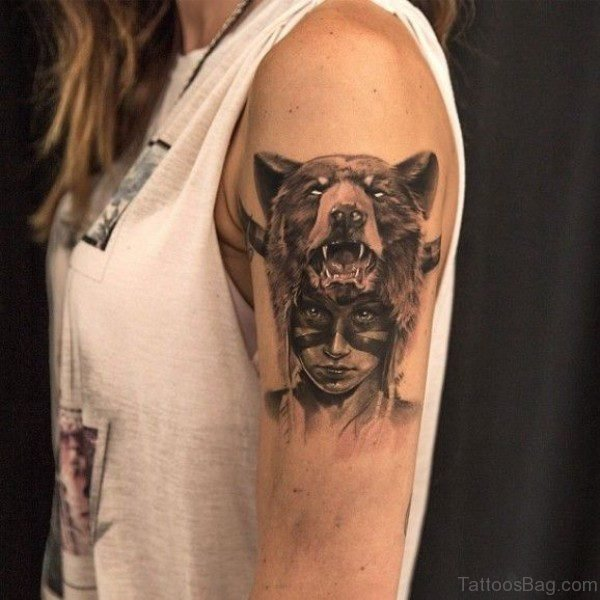 Horror Wolf Tattoo
