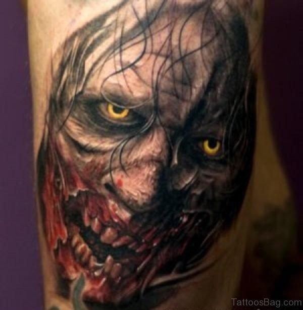 Horror Zombie Tattoo