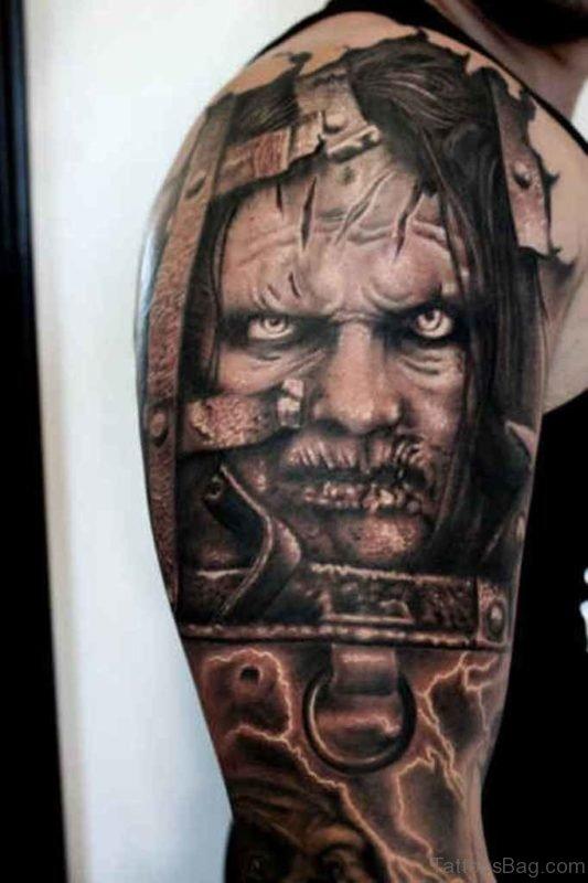 Horror Zombie Tattoo Design