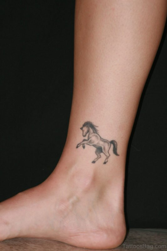 Horse Ankle Tattoo