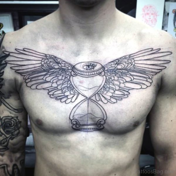 Hourglass Wings Tattoo