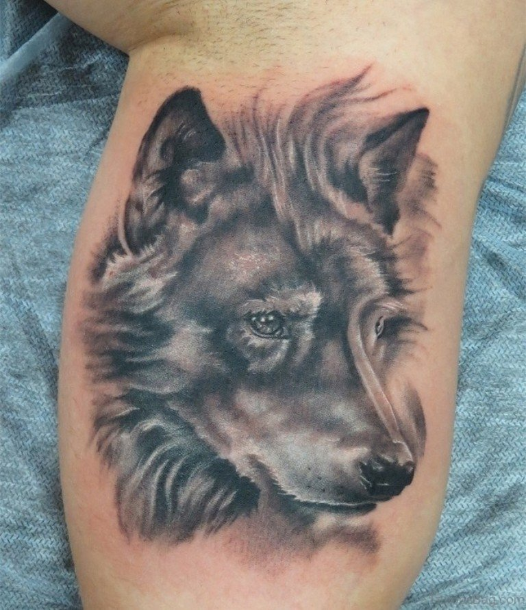 41 marvelous wolf tattoos for leg for Wolf head tattoos