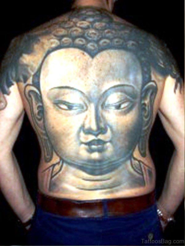 Huge Buddha Face On Back