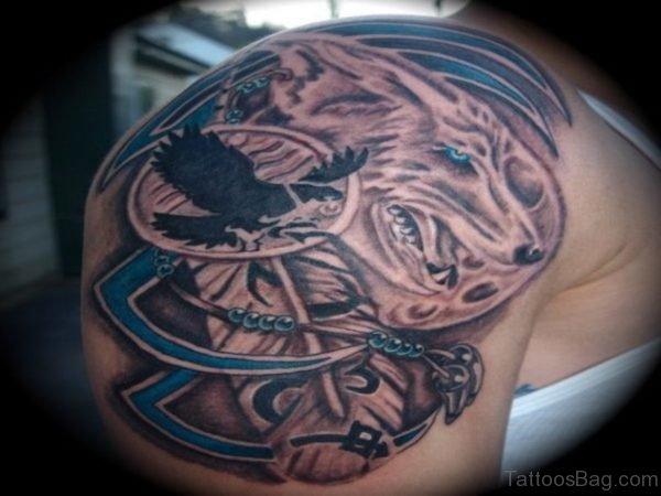 Hunting Wolf Tattoo