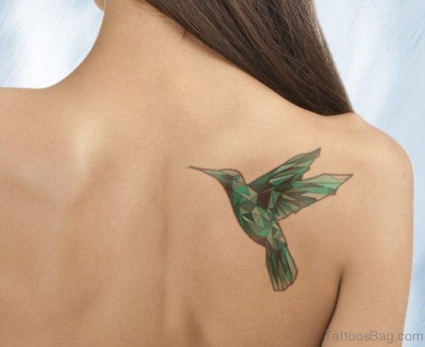 Hummingbird Geometric Tattoo