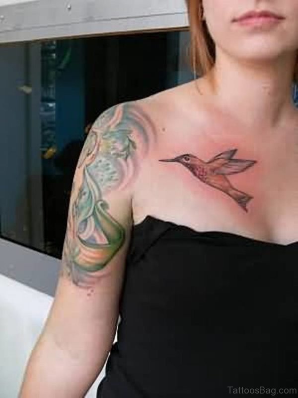 Hummingbird Tattoo For Girls