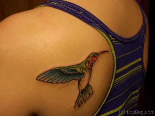 Hummingbird Tattoos On Shoulder