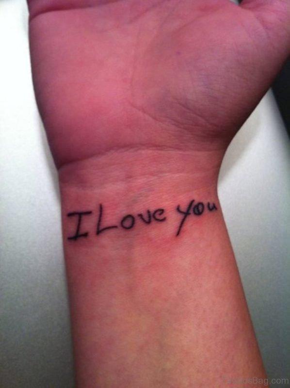 I Love Wording Tattoo