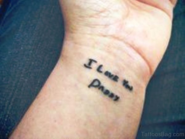 I Love You Paddy Wrist Tattoo
