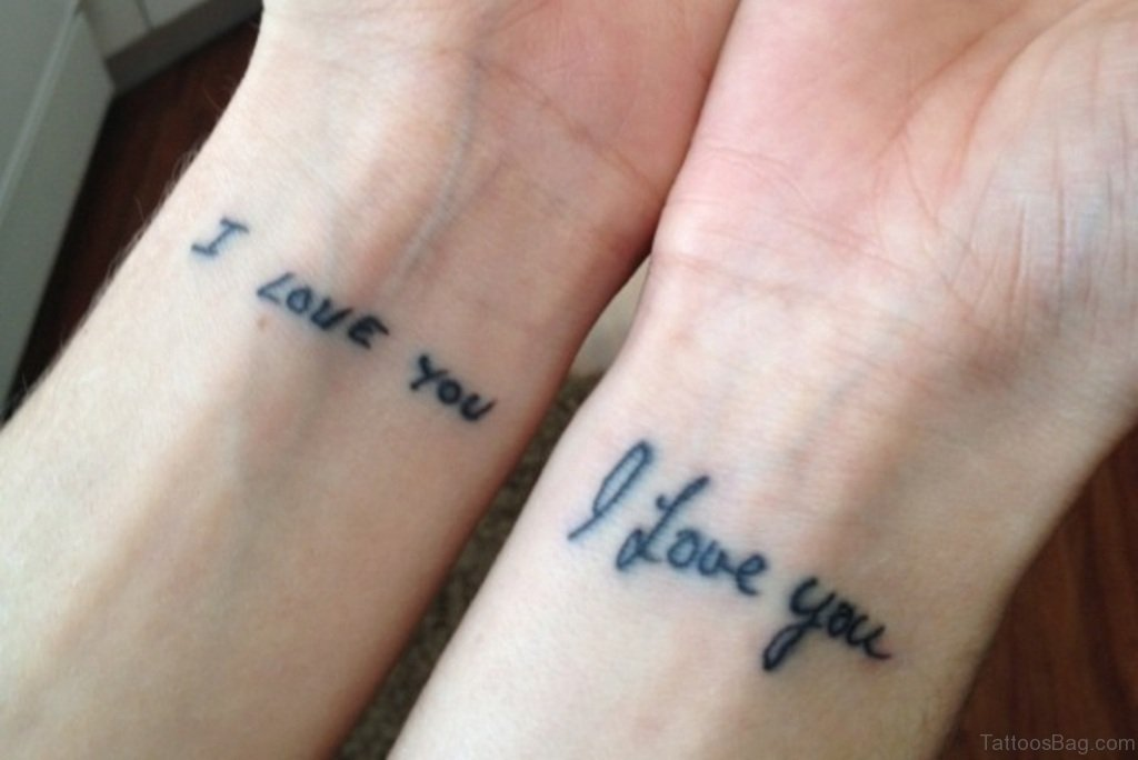 62 lovable wording tattoos for wrist for Dad i love you tattoo