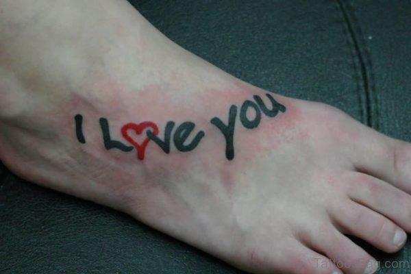 I Love You Wording Tattoo