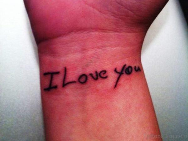 I Love You Wrist Tattoo Design