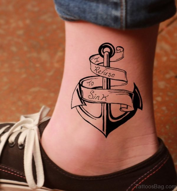 I Refuse To Sink Anchor Tattoo