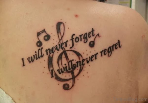 I Will Never Forget Shoulder Tattoo