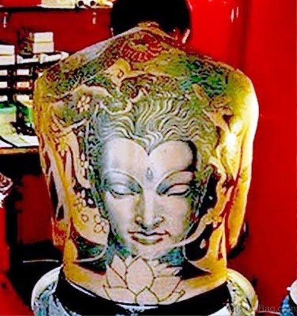 Image Of Buddha Tattoo On Back