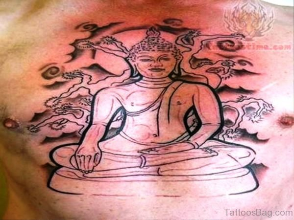 Image Of Buddha Tattoo On Chest
