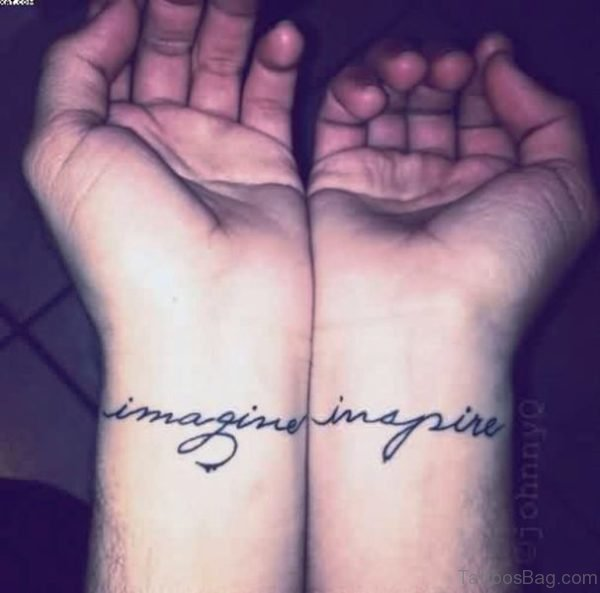 Imagine Inspire Wrist Tattoo
