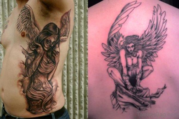 Imge Of Angel Tattoo