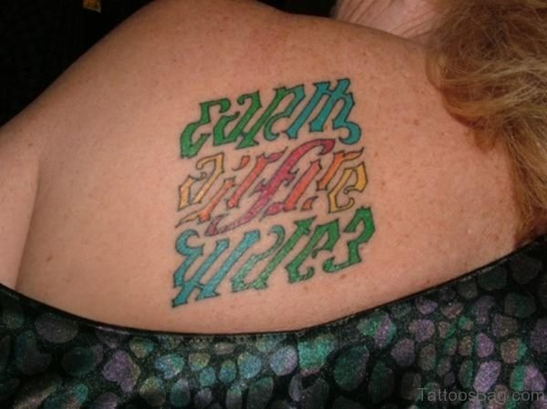 Impressive Ambigram Tattoo