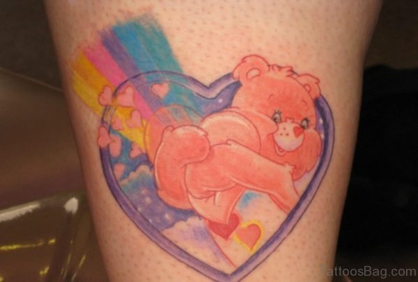 Impressive Cartoon Heart Tattoo