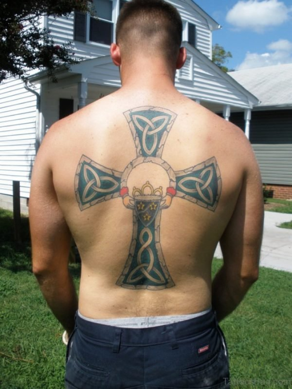 Impressive Celtic Cross Tattoo