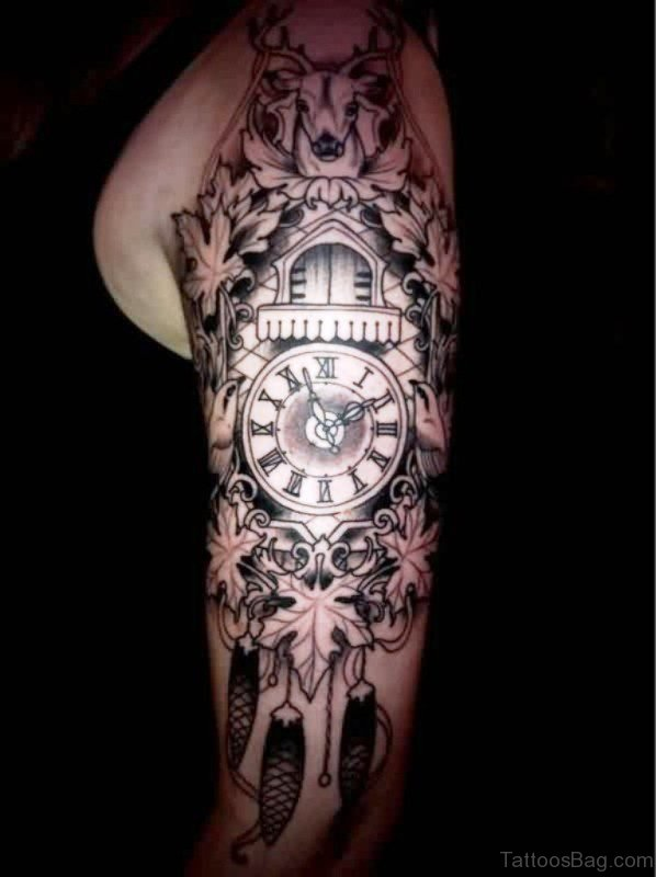 Impressive Clock Tattoo Design