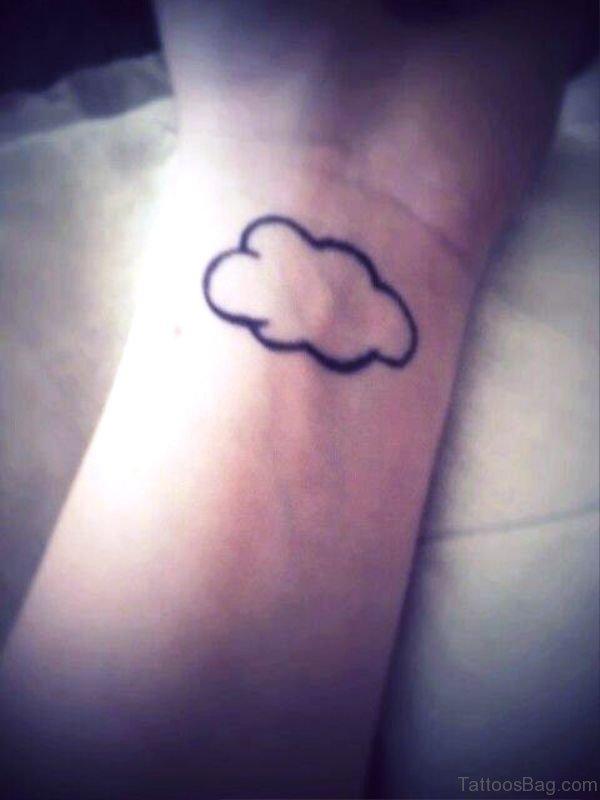 Impressive Cloud Tattoo On Wrist