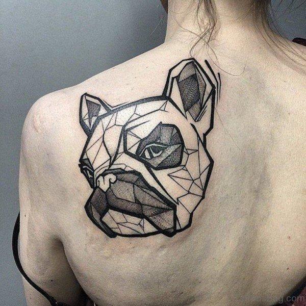 Impressive Dog Geometric Tattoo