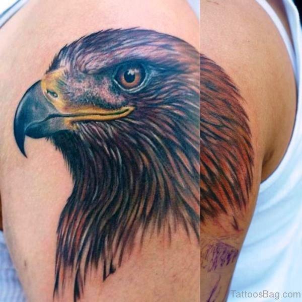 Impressive Eagle Shoulder Tattoo Design