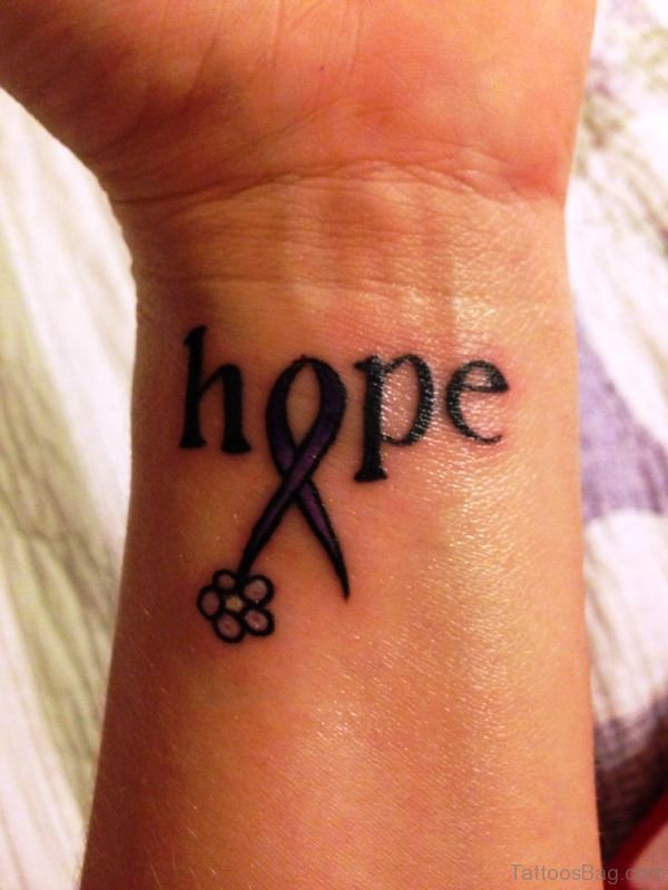 Impressive Hope Tattoo On Wrist