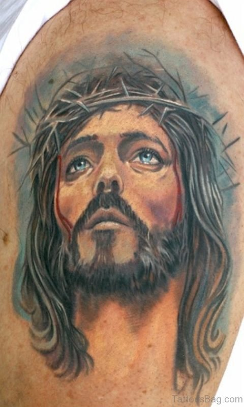 Impressive Jesus Tattoo Design