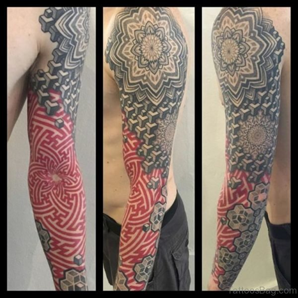 Impressive Mandala Tattoo On Full Sleeve