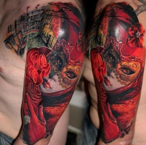 Impressive Mask Tattoo