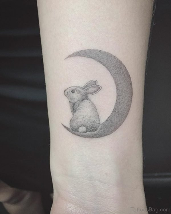 Impressive Rabbit Tattoo On Wrist