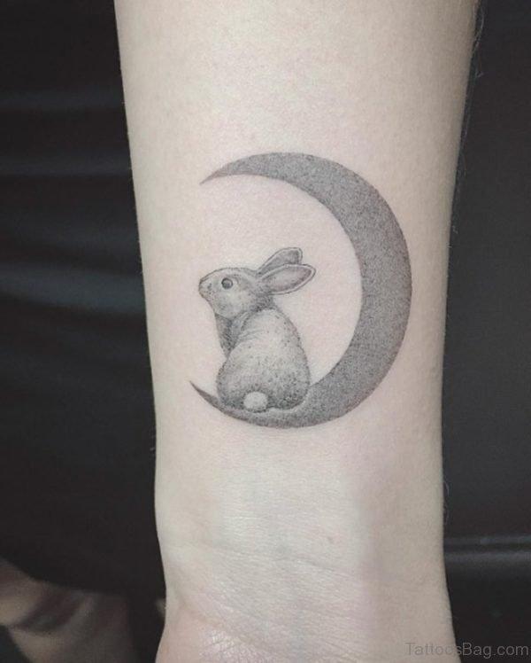 Impressive Rabbit Tattoo On Wrist