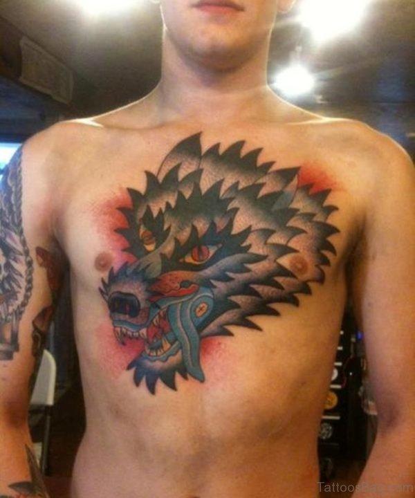 Impressive Wolf Tattoo Design