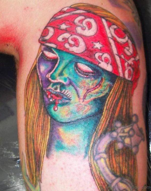 Impressive Zombie Tattoo