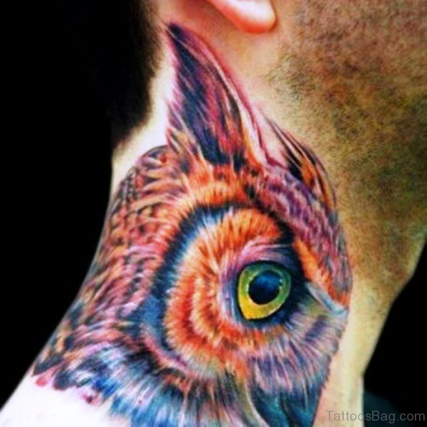 Incredible Owl Face Tattoo