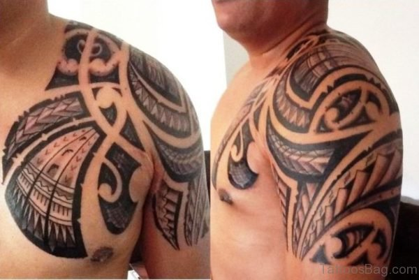 Indian Armour Shoulder Tattoo