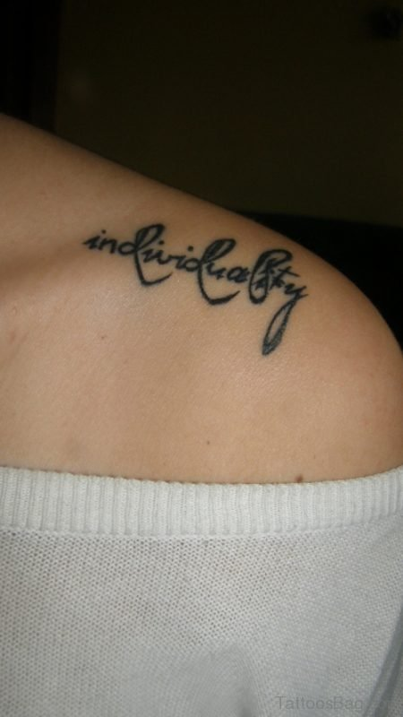 Individuality Shoulder Tattoo For Women