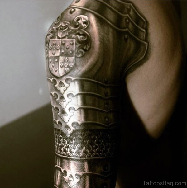 Infantry Knight Guy Tattoo Of Armour