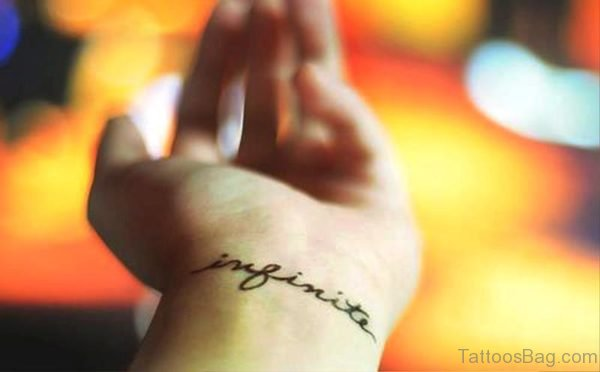 Infinite Tattoo On Wrist
