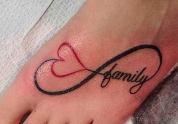 Infinity Heart Tattoo On Foot