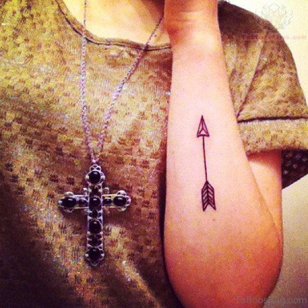 Inner Arm Arrow Tattoo