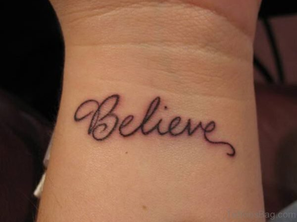 Inner Wrist Word Tattoo