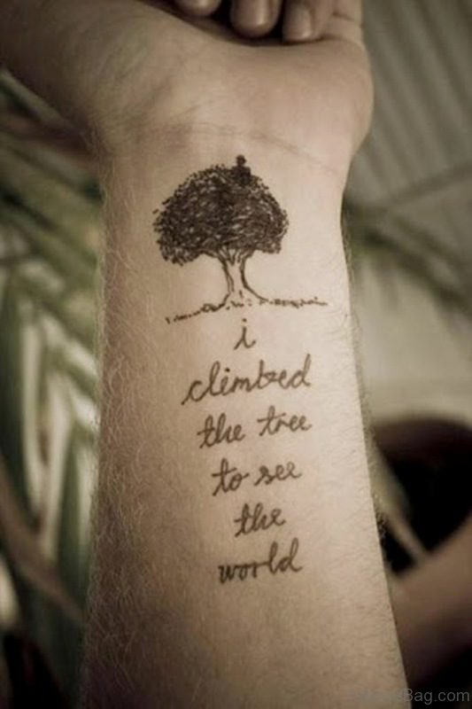 Inspiring Quote Tattoo On Wrist