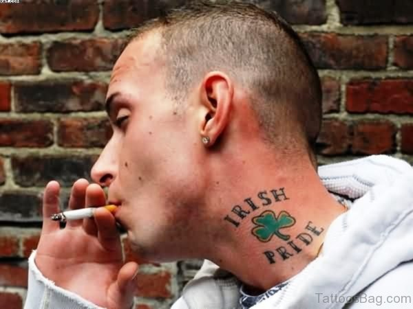 Irish Pride Neck Tattoo